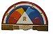 Quadro Entalhado Arco Iris - Imagem 1