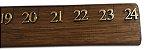 Regua 24 polegadas em madeira  numeração douradas  - Imagem 2