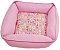 Cama Pet Soft Quadrada Rosa 50cm x 50cm - Imagem 1