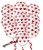 10 Balões Brancos Com Coração Vermelho Surpresa Romântica - Imagem 1