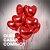 Decoração Romântica Pedido Casamento Com 10 Balões Metálicos - Imagem 1