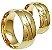 Par Aliança Onda - 3 Camadas Ouro 18K - Imagem 4
