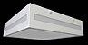 Pendente Quadrado 20cm Branco Rasgo Lateral - Imagem 1