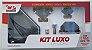 Kit Acess Banheiro Luxo de Vidro 5 peças Canto Fumê - Imagem 1