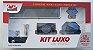 Kit Acess Banheiro Luxo de Vidro 5 peças Retangular Fumê - Imagem 1