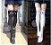 Meia 5/8 Luna de Sailor Moon - Branca & Preta - Imagem 1