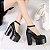 Sapato de Couro Plataforma BLACKFIT - Imagem 1
