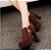 Sapato Plataforma de Camurça ZIPPED em Duas Cores - Imagem 5