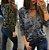 """Blusa Camuflada com Decote Em """"V"""" em Duas Cores - Imagem 5"""