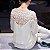 Blusa de Chiffon FLORES DA PRIMAVERA - Duas Cores - Imagem 4