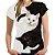 Camiseta Baby Look YING-YANG CAT - Imagem 1
