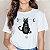 Camiseta Gótica GATO & FEITICEIRA - Duas Estampas - Imagem 1