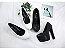 Sapato Plataforma Salto Alto de Couro BLACK & WHITE - Imagem 3