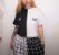 Camiseta Cropped BORBOLETA Branco & Preto - Imagem 1