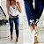 Calça Jeans Skinny LAÇO DE STRASS - Imagem 1