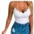 Blusa de Alcinha Decote Ondulado - Duas Cores - Imagem 1
