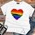 Camiseta CORAÇÃO ARCO-ÍRIS (Love) - Imagem 5