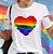 Camiseta CORAÇÃO ARCO-ÍRIS (Love) - Imagem 3