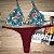 Cortininha móvel Arraial + calcinha dupla Marsala - Imagem 1