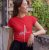 Camiseta Baby Look Fé Flor - Imagem 5