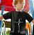 Camisa infantil Preta Fé - Imagem 1