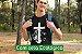 Camiseta Ecológica Preta Cordeiro e Leão - UNISSEX - Imagem 1
