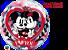 Balão Bubble Disney Mickey e Minnie Eu Te Amo - Imagem 1