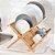 Escorredor de Bambu Dobrável Retrátil Decorativo - Imagem 2
