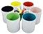 Caneca Cerâmica Interior e Alça Colorida 325 ml - Imagem 1