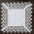Guardanapo/Lugar Americano Supremo Quadrado Branco 45x45 1001 - Imagem 1