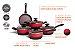 Jogo de Panelas 5 Peças Com Fundo De Indução Prime - Brinoxt - Vermelho Brinox T2 - Imagem 2