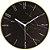 Relógio Parede Marmorizado Preto/ Dourado - Imagem 1
