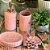 Kit Banheiro 3 Peças Cerâmica Rosa - Imagem 4