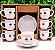 Jogo De Xícaras De Café Porcelana Olhinhos 90 Ml 12 Peças - Imagem 1