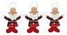 Kit Com 6 Papai Noel Pendente Tecido Xadrez Enfeite Natal - Imagem 3