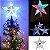 Estrela Ponteira Com Led 20cm Enfeite Árvore De Natal Bivolt - Imagem 4