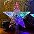 Estrela Ponteira Com Led 20cm Enfeite Árvore De Natal Bivolt - Imagem 2