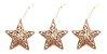 Kit 8 Estrelas Vazada Dourada Com Glitter 8cm Pendente Natal - Imagem 4