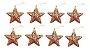 Kit 8 Estrelas Com Glitter Rose Gold Vazada 8cm Pendente Natal - Imagem 1