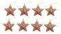 Kit 4 Estrelas Com Glitter Rose Gold Vazada 8cm Pendente Natal - Imagem 3