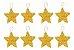 Kit 16 Estrelas Pendente Dourada Brilhante 6cm Árvore De Natal - Imagem 1