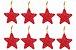 Kit 16 Estrelas Pendente Vermelha Brilhante 6cm Para Árvore De Natal - Imagem 1