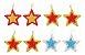 Kit 4 Estrelas Brilhante Pendente Colorida 9,5cm Para Árvore Natal - Imagem 4