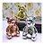 Enfeite Decorativo Urso Sentado Em Porcelana Metalizado - Imagem 1