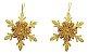 Kit 6 Flocos De Neve Folha Glitter Dourado 12cm Pendente Enfeite De Natal - Imagem 5