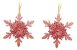 Kit 6 Flocos De Neve Folha Glitter Rose Gold 12cm Pendente Enfeite Natal - Imagem 3