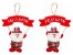 Kit 2 Enfeites De Porta Pendente Papai Noel Em Tecido Xadrez Natal - Imagem 1