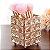 Porta Objeto Pincel De Maquiagem Enfeite Decorativo Metal Aramado Cristal - Imagem 1