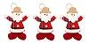 Kit 3 Enfeite De Natal Pendente Boneco Xadrez Papai Noel - Imagem 1