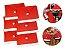 Kit 6 Capas Vermelha Para Cadeira Natal Veludo Papai Noel - Imagem 1